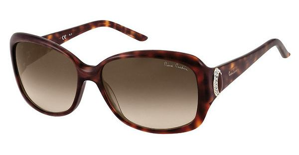 Pierre Cardin P.C. 8353/S 08E/SH BROWN SFDRK HAVAN (BROWN SF)