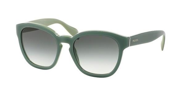 Prada PR 17RS TKQ1E0 GREEN GRADIENTOPAL DARK GREEN ON GREEN