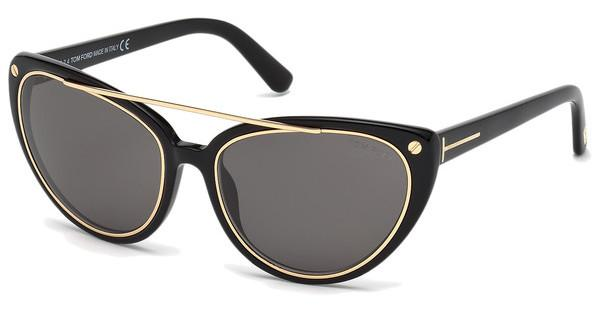 Tom Ford FT0384 01A grauschwarz glanz