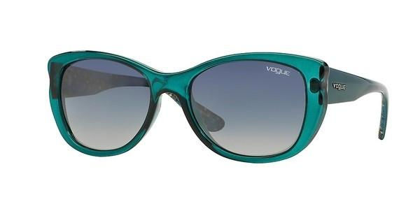 Vogue VO2844S 22561G LIGHT GREY GRADIENT BLUETRANSPARENT PETROLEUM GREEN