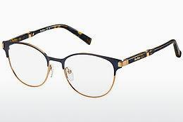 Lunettes design Max Mara MM 1254 MF0 - Bleues, Or, Rose