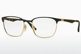 Lunettes design Ray-Ban RX6356 2875 - Noires, Or