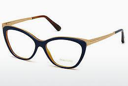 Occhiali design Tom Ford FT5374 090 - Blu, Shiny
