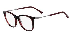 Lacoste L2804 615 STRIPED RED