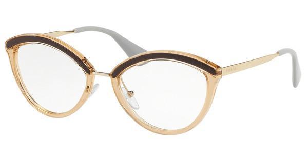 PRADA Prada Damen Brille » PR 14UV«, braun, KOF1O1 - braun