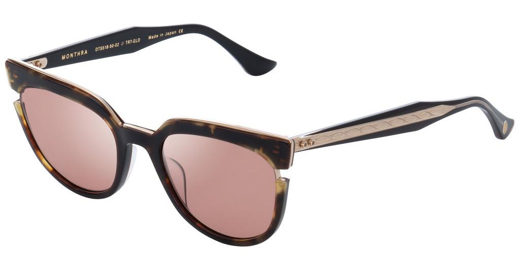 DITA   DTS-518 02 Amber Rose- ARDark Tortoise-Burnt Brown Back - White Gold