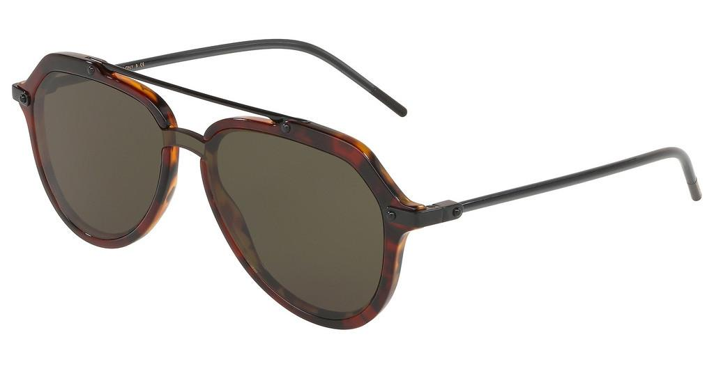 Dolce & Gabbana   DG4330 322282 DARK GREENDARK RED HAVANA
