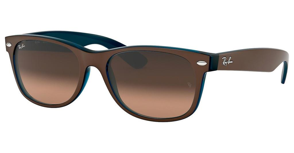 Ray-Ban   RB2132 6310A5 PINK GRADIENT BROWNMATTE CHOCCOLAT ON OPAL BLUE