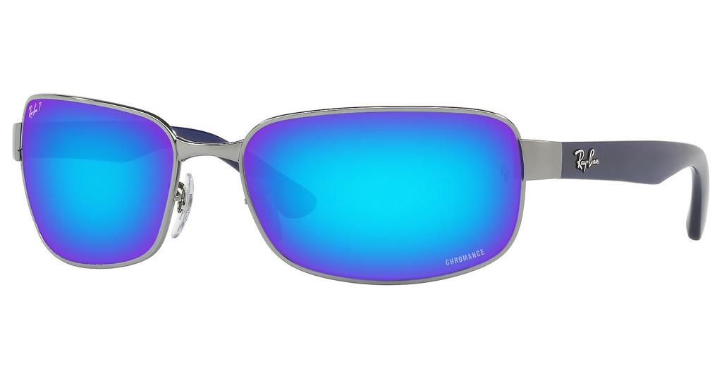 Ray-Ban   RB3566CH 004/A1 GREEN MIR BLUE POLAR AVIGUNMETAL
