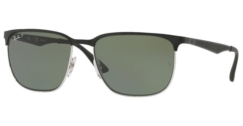 Ray-Ban   RB3569 90049A DARK GREEN  POLARSILVER TOP SHINY BLACK