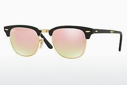 Lunettes de soleil Ray-Ban CLUBMASTER FOLDING (RB2176 901S7O) - Noires