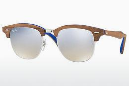 Sonnenbrille Ray-Ban CLUBMASTER (M) (RB3016M 12179U) - Silber