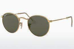 Lunettes de soleil Ray-Ban ROUND METAL (RB3447 112/58) - Or