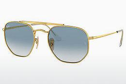 Lunettes de soleil Ray-Ban THE MARSHAL (RB3648 001/3F) - Or