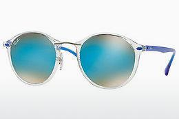 Lunettes de soleil Ray-Ban Round Ii Light Ray (RB4242 6289B7) - Transparentes