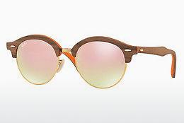 Sonnenbrille Ray-Ban Clubround Wood (RB4246M 12187O) - Braun