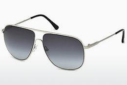 Sonnenbrille Tom Ford Dominic (FT0451 16W) - Silber, Shiny, Grey