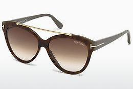 Sonnenbrille Tom Ford Livia (FT0518 53F) - Havanna, Yellow, Blond, Brown
