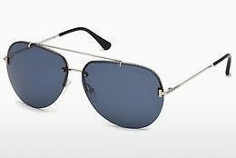 Occhiali da vista Tom Ford FT0584 16V - Argentato, Shiny, Grey
