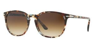 Persol PO3007S 105851 CLEAR GRADIENT BROWNHAVANA/AZURE-BROWN