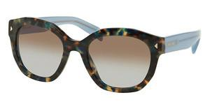 Prada PR 12SS UE14S2 LIGHT BLUE GRAD LIGHT BROWNSPOTTED BROWN BLUE