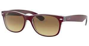 Ray-Ban RB2132 605485 BROWN GRADIENTTOP MATTE BORDO' ON TRANSP