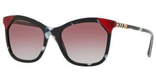 Burberry BE4263 370990 GREY GRADIENT VIOLETBLACK/TORTOISE WHITE/RED