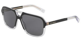 Dolce & Gabbana DG4354 501/81 DARK GREYTOP BLACK ON CRYSTAL