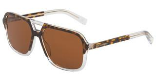 Dolce & Gabbana DG4354 757/73 BROWN GRADIENT DARK BROWNTOP HAVANA ON CRYSTAL