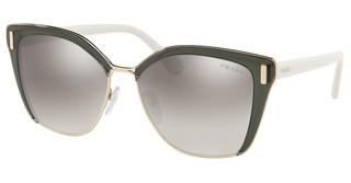Prada PR 56TS MO95O0 GRADIENT GREY MIRROR SILVERTRANSPARENT GREY/PALE GOLD