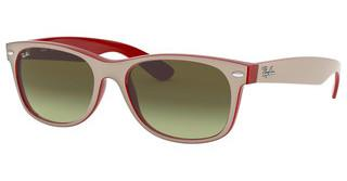 Ray-Ban RB2132 6307A6 GREEN GRADIENT BROWNMATTE BEIGE ON OPAL RED