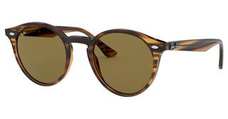 Ray-Ban RB2180 820/73 DARK BROWNSTRIPPED RED HAVANA