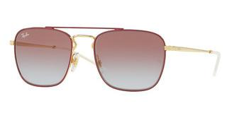 Ray-Ban RB3588 9060I8 LIGHT BLUE GRADIENT VIOLETGOLD TOP ON BORDEAUX