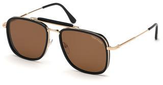 Tom Ford FT0665 01E braunschwarz glanz