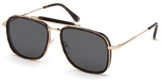Tom Ford FT0665 52A grauhavanna dunkel