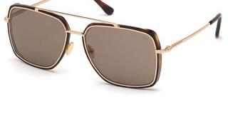 Tom Ford FT0750 52J roviexhavanna dunkel