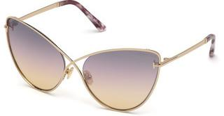 Tom Ford FT0786 28C grau verspiegeltrosé-gold glanz