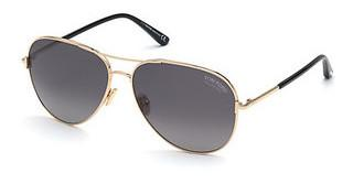 Tom Ford FT0823 28D grau polarisierendrosé-gold glanz