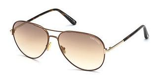 Tom Ford FT0823 48G braun verspiegeltbraun dunkel glanz