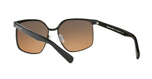 MICHAEL KORS Michael Kors Damen Sonnenbrille »AUGUST MK1018«, schwarz, 114618 - schwarz/braun