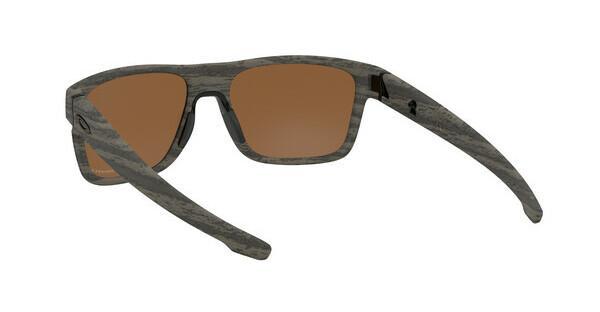 Oakley Herren Crossrange 936107 Sonnenbrille, Braun (Woodgrain/Prizmtungstenpolarized), 57