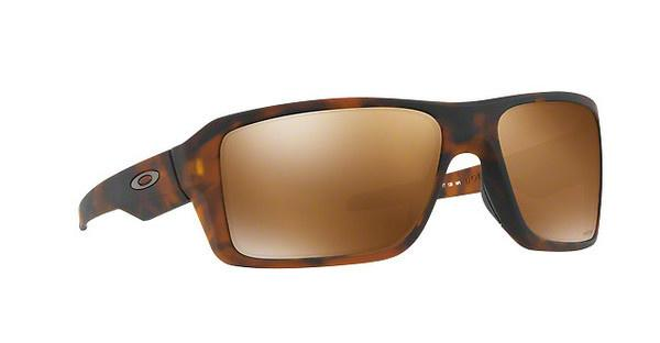 Oakley Herren Sonnenbrille Double Edge 938013, Schwarz (Matte Black/Prizmdeepwaterpolarized), 66