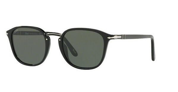 PERSOL Persol Herren Sonnenbrille » PO3186S«, schwarz, 95/31 - schwarz/grün