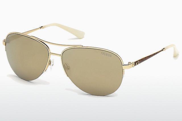 Damen-accessoires Guess By Marciano Sonnenbrille Damen Gold Reisen Sonnenbrillen & Zubehör